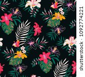 seamless tropical pattern in... | Shutterstock .eps vector #1092774221