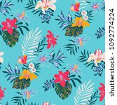 seamless tropical pattern in... | Shutterstock .eps vector #1092774224