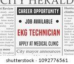 ekg technician medical career   ...   Shutterstock .eps vector #1092776561