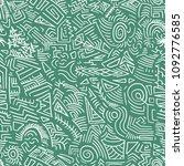 quirky doodle texture  ... | Shutterstock .eps vector #1092776585