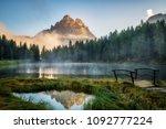 majestic landscape of antorno... | Shutterstock . vector #1092777224