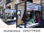 Small photo of Leiden, The Netherlands - May 15, 2018: Girls are locked up voluntarily for 12 hours during the week against child prostitution organized by Free a Girl to ask attention and collect money