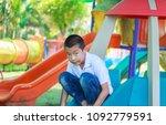 cute asian child having fun at... | Shutterstock . vector #1092779591