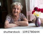 Elderly Woman Portrait Near...