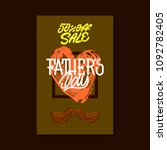 fathers day. sale card. vector... | Shutterstock .eps vector #1092782405