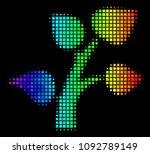 pixel bright halftone flora...   Shutterstock .eps vector #1092789149