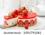 Cold Cheesecake With Strawberr...