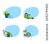 vector set of stickers with... | Shutterstock .eps vector #1092794501