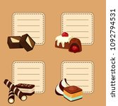 vector set of stickers with... | Shutterstock .eps vector #1092794531