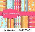 set of vector abstract paper... | Shutterstock .eps vector #109279631