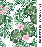 seamless tropical vector... | Shutterstock .eps vector #1092798431