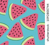 bright colorful seamless vector ... | Shutterstock .eps vector #1092800744