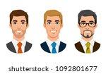 cartoon handsome young... | Shutterstock .eps vector #1092801677