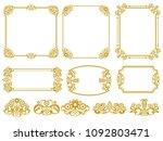 vintage like girly frame | Shutterstock .eps vector #1092803471