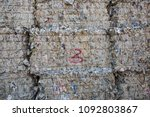 paper pile and piece of... | Shutterstock . vector #1092803867