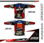 long sleeve motocross jerseys t ... | Shutterstock .eps vector #1092815237