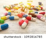 colorful capsules and heap of... | Shutterstock . vector #1092816785