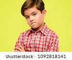 handsome toddler child with... | Shutterstock . vector #1092818141