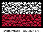 poland flag concept organized... | Shutterstock .eps vector #1092824171