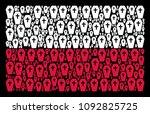 poland state flag pattern...   Shutterstock .eps vector #1092825725