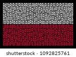 poland state flag pattern...   Shutterstock .eps vector #1092825761