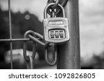 Small photo of Lock, Code lock, Chain, Chain lock