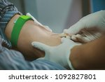 blood donation in hospital. | Shutterstock . vector #1092827801