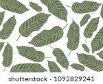 leaves pattern background | Shutterstock .eps vector #1092829241