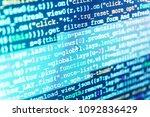 programing workflow abstract... | Shutterstock . vector #1092836429