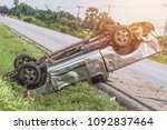real event   car accident  ... | Shutterstock . vector #1092837464