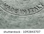 stainless steel pot with made... | Shutterstock . vector #1092843707