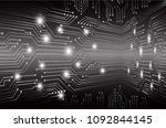 binary circuit board future... | Shutterstock .eps vector #1092844145