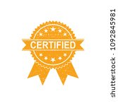 certified medal icon. approved... | Shutterstock .eps vector #1092845981