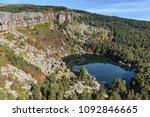 mountain landscape with laguna... | Shutterstock . vector #1092846665