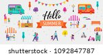 summer fest  food street fair ... | Shutterstock .eps vector #1092847787