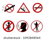 vector illustration of icon set ... | Shutterstock .eps vector #1092848564