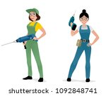 vector illustration of women... | Shutterstock .eps vector #1092848741