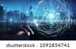 businessman on blurred... | Shutterstock . vector #1092854741