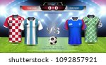 football cup 2018 team group d  ... | Shutterstock .eps vector #1092857921