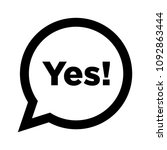 yes speech bubble vector | Shutterstock .eps vector #1092863444