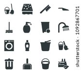 black vector icon set bucket... | Shutterstock .eps vector #1092867701