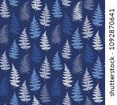 fern frond herbs  tropical... | Shutterstock .eps vector #1092870641