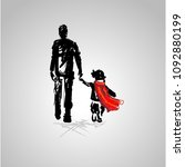 happy fathers day card design.... | Shutterstock .eps vector #1092880199