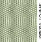 green geometric pattern in... | Shutterstock . vector #1092883139