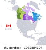vector illustration of canada... | Shutterstock .eps vector #1092884309