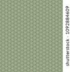 green geometric pattern in... | Shutterstock . vector #1092884609