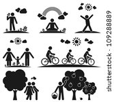pictograms representing people...
