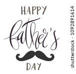beautiful handwritten brush... | Shutterstock .eps vector #1092891614