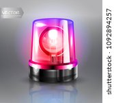 flasher siren vector. realistic ... | Shutterstock .eps vector #1092894257