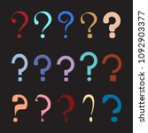 question mark symbols set.... | Shutterstock .eps vector #1092903377